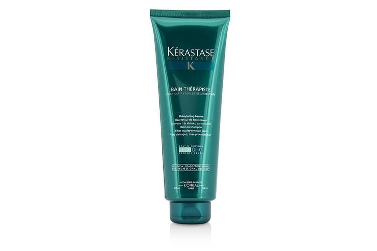 Kerastase Resistance Bain Therapiste Balm-In -Shampoo Fiber Quality Renewal Care (For Very Damaged, Over-Porcessed Hair) 450ml