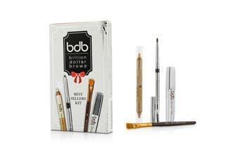 Billion Dollar Brows Best Sellers Kit: 1x Universal Brow Pencil 0.27g, 1x Brow Duo Pencil 2.98g, 1x Smudge Brush, 1x Brow Gel 3ml 4pcs