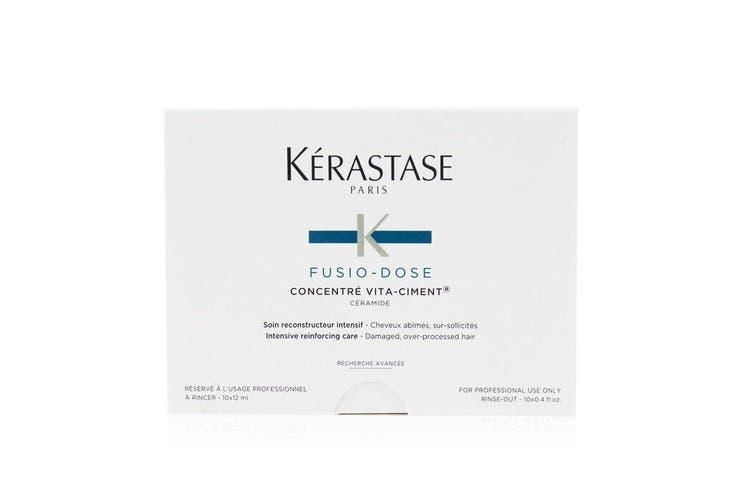 Kerastase Fusio-Dose Concentre Vita-Ciment Ceramide Intensive Reinforcing Care (Damaged, Over-Processed Hair) 10x12ml
