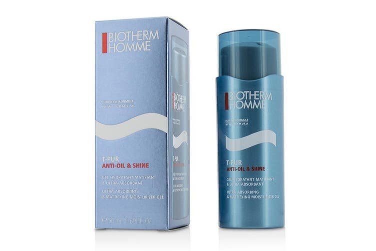 Biotherm Homme T-Pur Anti Oil & Shine Ultra Absorbing & Mattifying Moisturizer Gel 50ml
