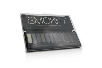 BYS Eyeshadow Palette (12x Eyeshadow, 2x Applicator) - Smokey 12g