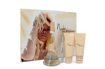 Rihanna Nude Gift Set - 3.4 oz Eau De Parfum Spray + 3 oz Body Lotion + 3 oz Shower Gel + Mini Eau De Parfum Spray
