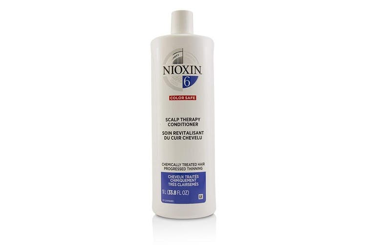 Nioxin Density System 6 Scalp Therapy Conditioner (Chemically Treated Hair, Progressed Thinning, Color Safe) 1000ml