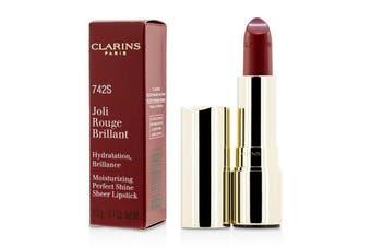 Clarins Joli Rouge Brillant (Moisturizing Perfect Shine Sheer Lipstick) - # 742S Joli Rouge 3.5g