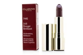 Clarins Joli Rouge Brillant (Moisturizing Perfect Shine Sheer Lipstick) - # 744S Plum 3.5g