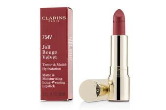Clarins Joli Rouge Velvet (Matte & Moisturizing Long Wearing Lipstick) - # 754V Deep Red 3.5g