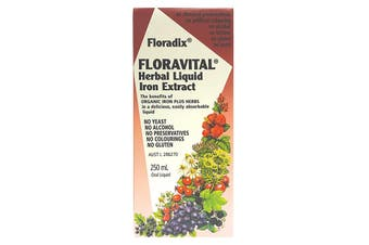 Floradix Floravital (Herbal Liquid Iron Extract) 250ml Oral Liquid