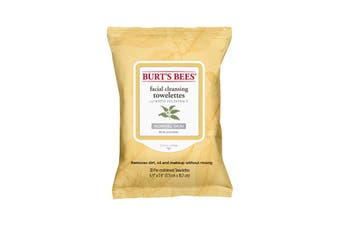 Burt's Bees Facial Cleansing Towelettes with White Tea Extract (normal skin) x 30 Pack