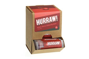 Hurraw! Lip Balm Tinted Black Cherry 4.3g x 24 Display