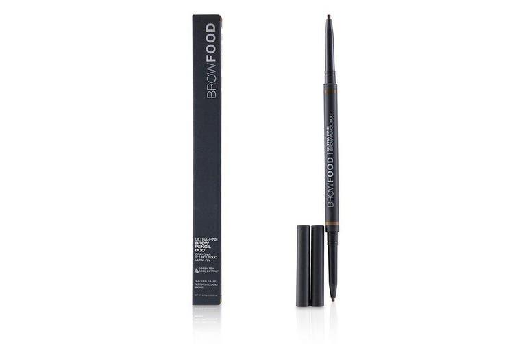 LashFood BrowFood Ultra Fine Brow Pencil Duo - # Brunette 0.10g