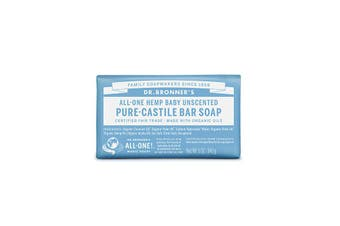Dr. Bronner's Pure-Castile Bar Soap (Hemp All-One) Baby Unscented 140g