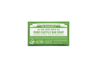 Dr. Bronner's Pure-Castile Bar Soap (Hemp All-One) Green Tea 140g