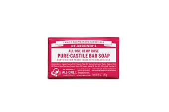 Dr. Bronner's Pure-Castile Bar Soap (Hemp All-One) Rose 140g
