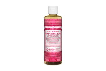 Dr. Bronner's Pure-Castile Soap Liquid (Hemp 18-in-1) Rose 237ml