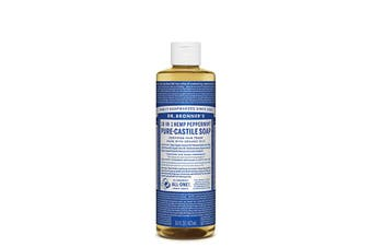 Dr. Bronner's Pure-Castile Soap Liquid (Hemp 18-in-1) Peppermint 473ml