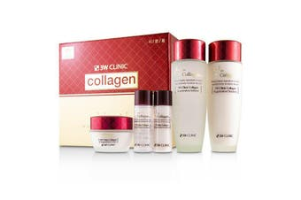 3W Clinic Collagen Skin Care Set: Softener 150ml + Emulsion 150ml + Cream 60ml + Softener 30ml + Emulsion 30ml 5pcs