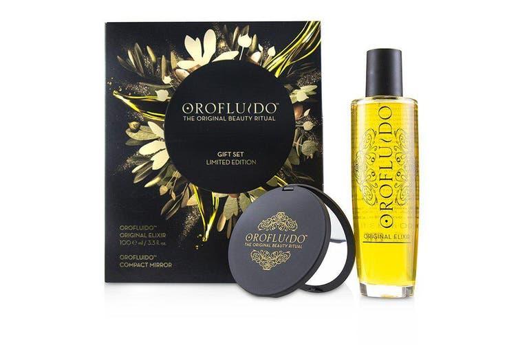 Orofluido The Original Beauty Ritual Limited Edition Gift Set: Original Elixir 100ml + Compact Mirror 2pcs
