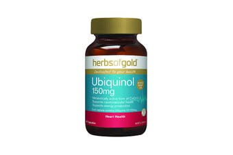 Herbs of Gold Ubiquinol 150mg 60c
