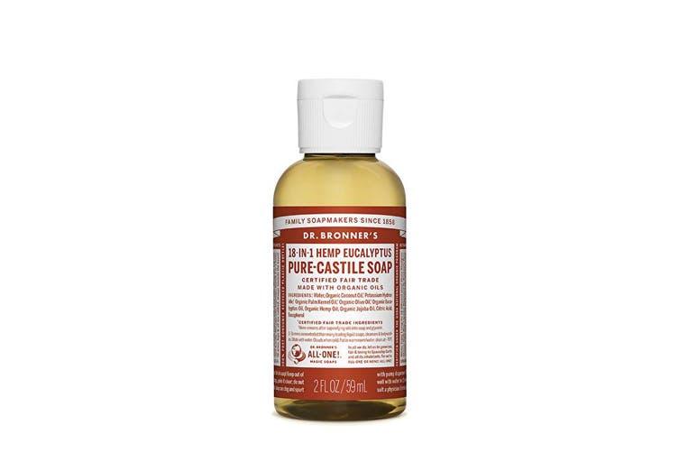 Dr. Bronner's Pure-Castile Soap Liquid (Hemp 18-in-1) Eucalyptus 59ml