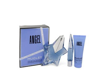 Thierry Mugler Angel Gift Set - Eau De Parfum Spray Refillable + 0.3 oz Mini Eau De Parfum Purse Spray + Shower Gel