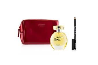 Bourjois Night Muse Coffret: Eau De Parfum Spray 50ml + Khol & Contour Eyeliner Pencil - #001 Noir-Issime 1.2g + Glossy Bag 2pcs+1Bag
