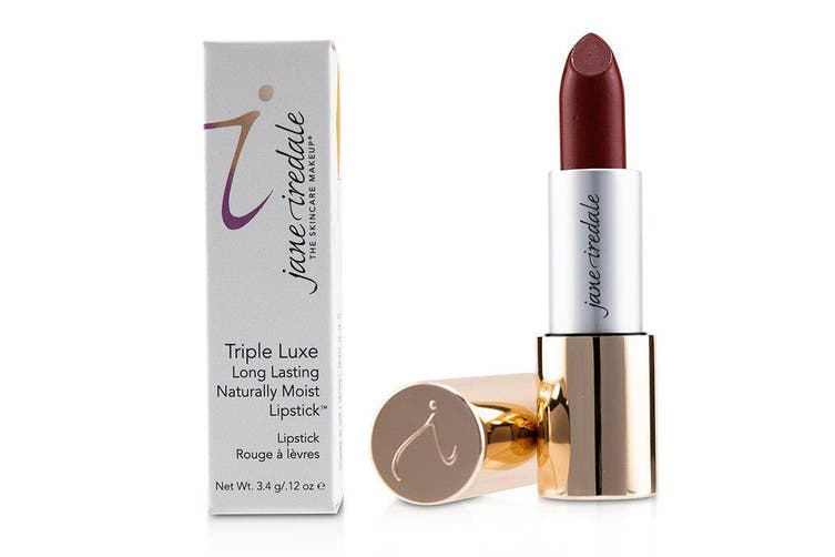 Jane Iredale Triple Luxe Long Lasting Naturally Moist Lipstick - # Megan (Strawberry Red) 3.4g
