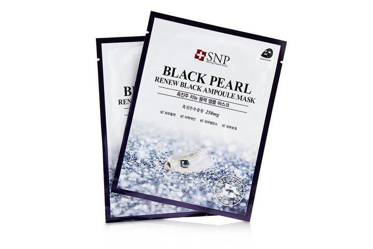 SNP Black Pearl Renew Black Ampoule Mask 11x25ml