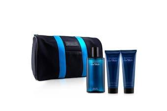 Davidoff Cool Water Coffret: EDT Spray 125ml + After Shave Balm 75ml + Shower Gel 75ml +Toilet Bag 3pcs+Bag