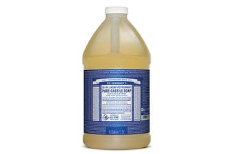 Dr. Bronner's Pure-Castile Soap Liquid (Hemp 18-in-1) Peppermint1890ml