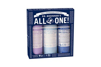Dr. Bronner's Pure-Castile Soap Liquid Cosmic Classics 237ml x 3 Pack (Baby, Lavender & Peppermint)