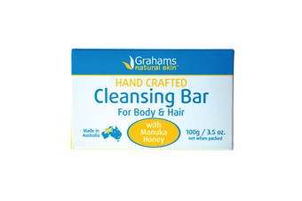 Grahams Natural Cleansing Bar For Body & Hair with Manuka Honey 100g