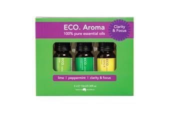 Eco Modern Essentials Aroma Essential Oil Trio Clarity & Focus 10ml x 3 Pack