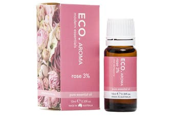 Eco Modern Essentials Aroma Essential Oil Dilution Rose (3%) in Grapeseed 10ml