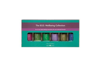 Eco Modern Essentials Aroma Essential Oil & Roller Ball Wellbeing Collection 10ml x 6 Pack