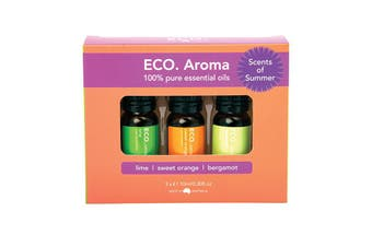 Eco Modern Essentials Aroma Essential Oil Trio Scents of Summer 10ml x 3 Pack