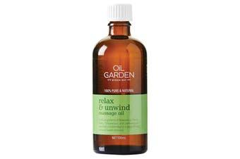 Oil Garden Massage Oil Blend Relax & Unwind 100ml