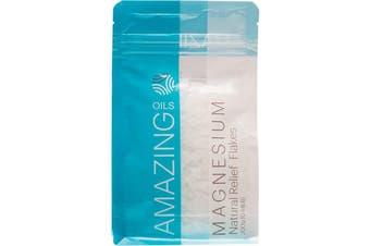 Amazing Oils Magnesium Bath Flakes Natural Relief 200g