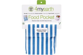 4myearth Food Pocket Denim Stripe - 14x14cm 1