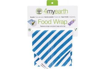 4myearth Food Wrap Denim Stripe - 30x30cm 1