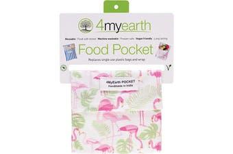 4myearth Food Pocket Flamingoes - 14x14cm 1