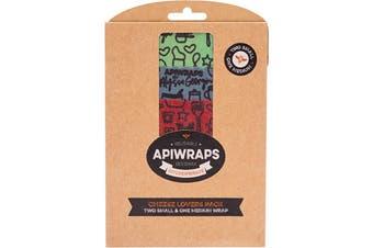 Apiwraps Reusable Beeswax Wraps - Cheese 2 X Small & 1 X Medium 3
