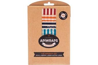 Apiwraps Reusable Beeswax Wraps - Full Set 1 X Small, Medium, Large & XL 4