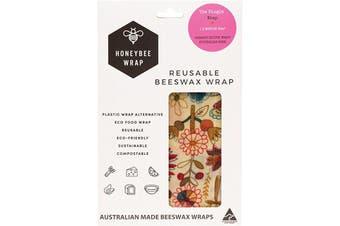 Honeybee Wrap Reusable Beeswax Wrap 1 X Medium (Designs Vary) 1