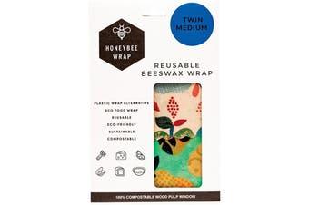 Honeybee Wrap Reusable Beeswax Wrap 2 X Medium (Designs Vary) 2