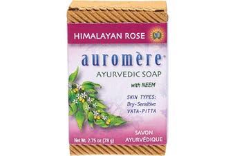 Auromere Neem Soap - Ayurvedic Himalayan Rose 78g