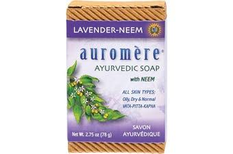 Auromere Neem Soap - Ayurvedic Lavender-Neem 78g