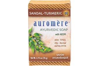 Auromere Neem Soap - Ayurvedic Sandal-Turmeric 78g