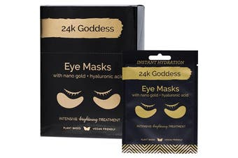 24k Goddess Active Gold Eye Mask Brightening 10 Pairs - Single Use 10