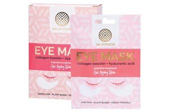 24k Goddess Eye Mask Aging Skin 10 Pairs - Single Use 10