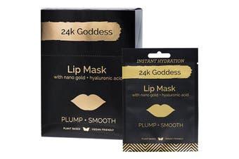 24k Goddess Active Gold Lip Mask Plump, Smooth 10 Pack - Single Use 10